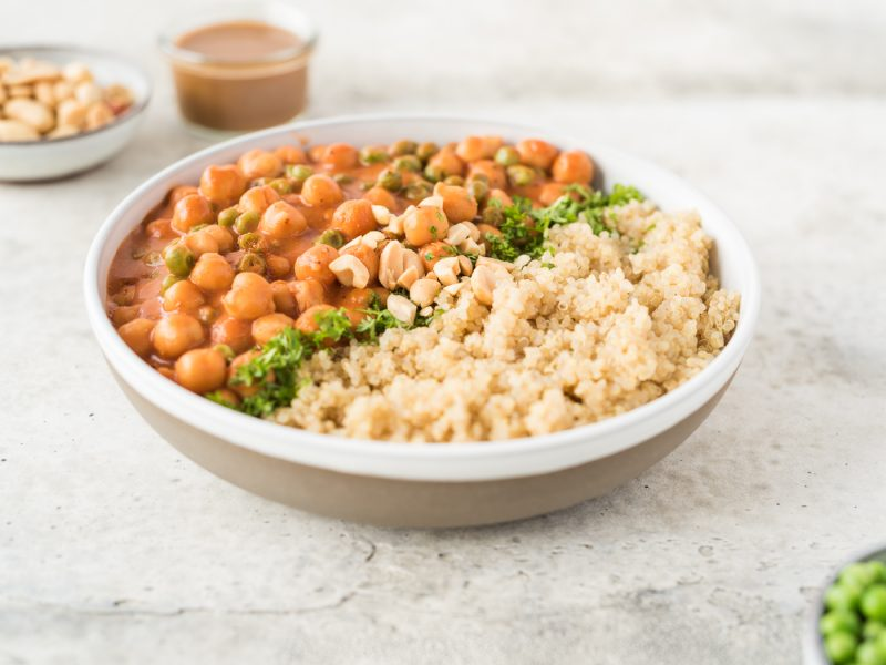 Bowl of beans and quinoa